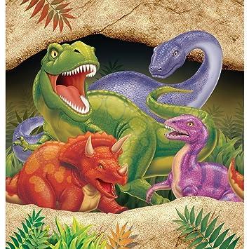 16 servilletas de papel con dibujos de dinosaurios, tamaño ...