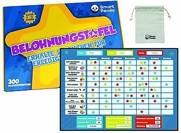 Belohnungstafel für Kinder – Tabelle mit Magnetsternen regt zu gutem ...