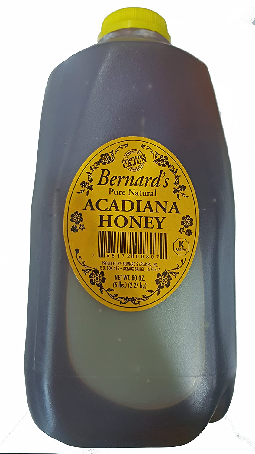 Amazon.com : Bernardu0027s Pure Natural Acadiana Louisiana Honey 5lb : Grocery  U0026 Gourmet Food