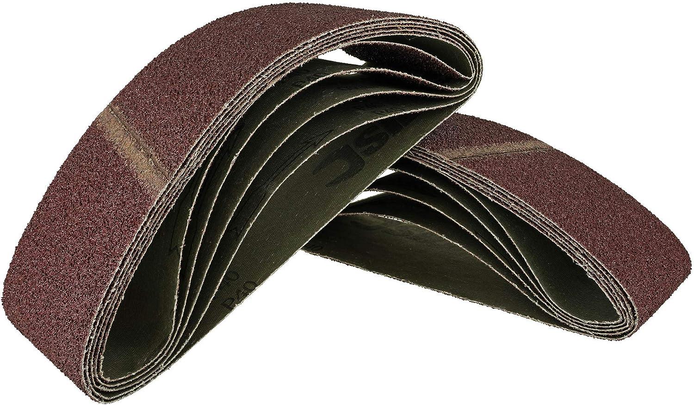 Schleifband | 10 Gewebe Schleifb/änder 75 x 533 mm f/ür Bandschleifer Schleifpapier Korn 60