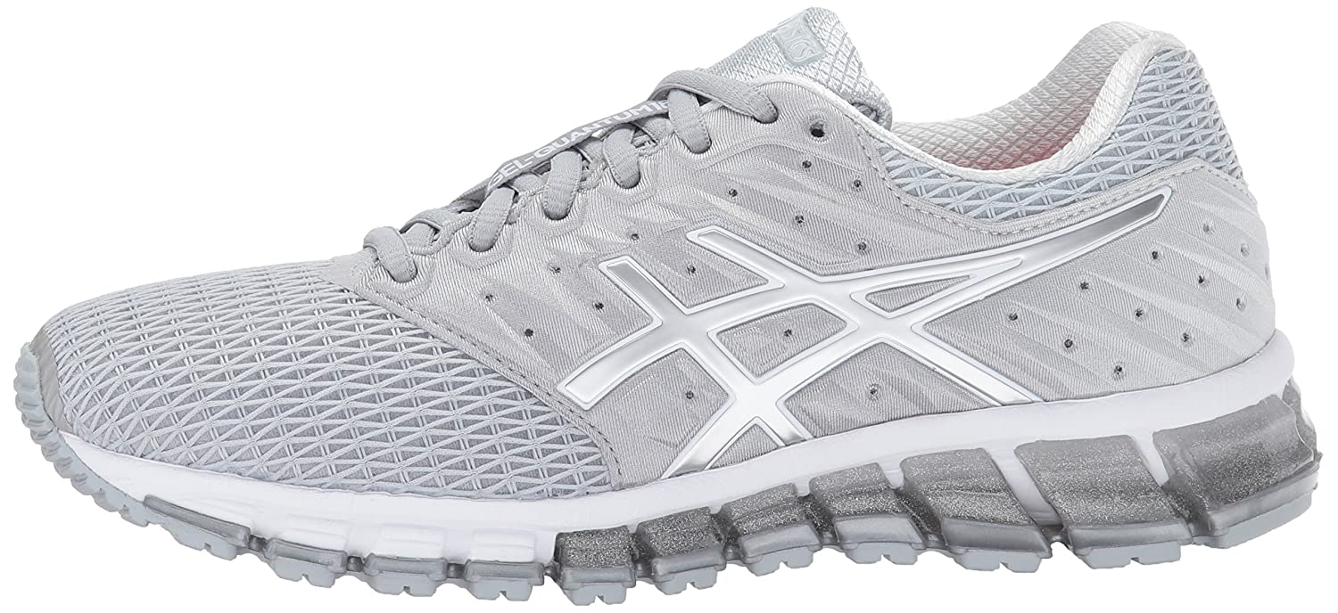 ASICS Women's Gel-Quantum 180 2 Running Shoe B01MQGFLZS 8 B(M) US|Mid Grey/White/Silver