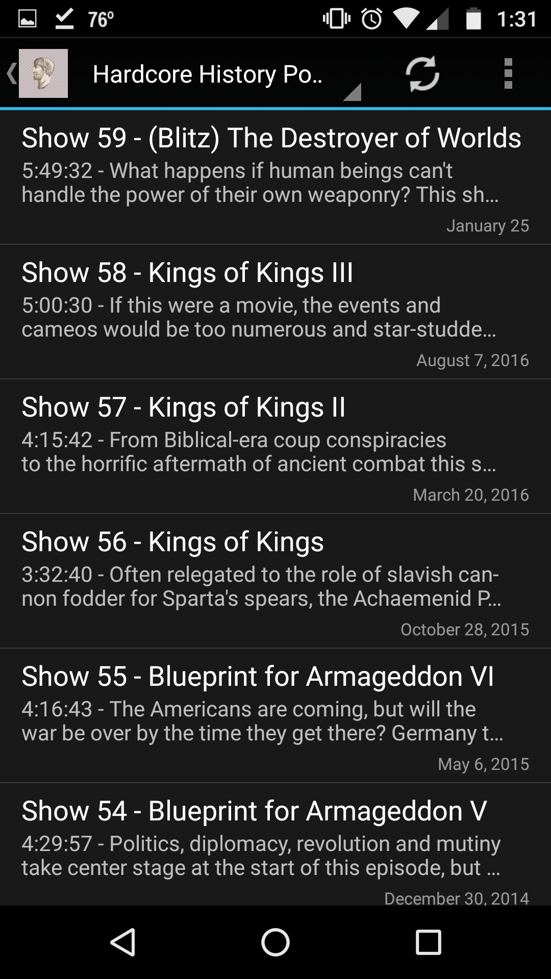 Amazon unofficial hardcore history appstore for android malvernweather Images