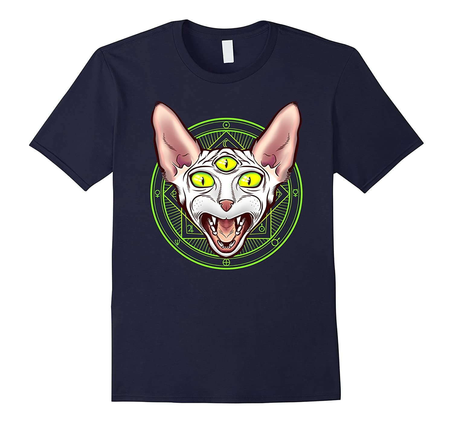 3-eyed Planetary Sphynx Cat Breed Shirt Astronomy Astrology-AZP