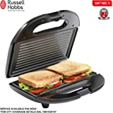 Russell Hobbs RST750GR – 750 Watt Non-stick Crispy Grill Sandwich Toaster for Multi snacks with Fixed Grilled Plate and 2 Years Warranty