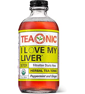 Teaonic Herbal Tea   I Love My Liver Detox   Ginger & Peppermint (12 Pack