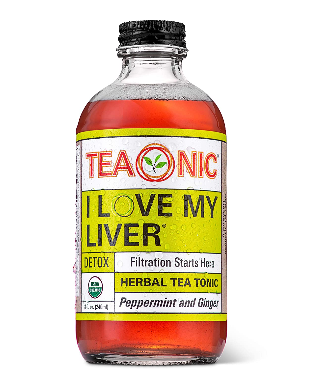 Teaonic I LOVE MY LIVER for Detox Bottled Herbal Tea Supplement, 8oz 12 Pack
