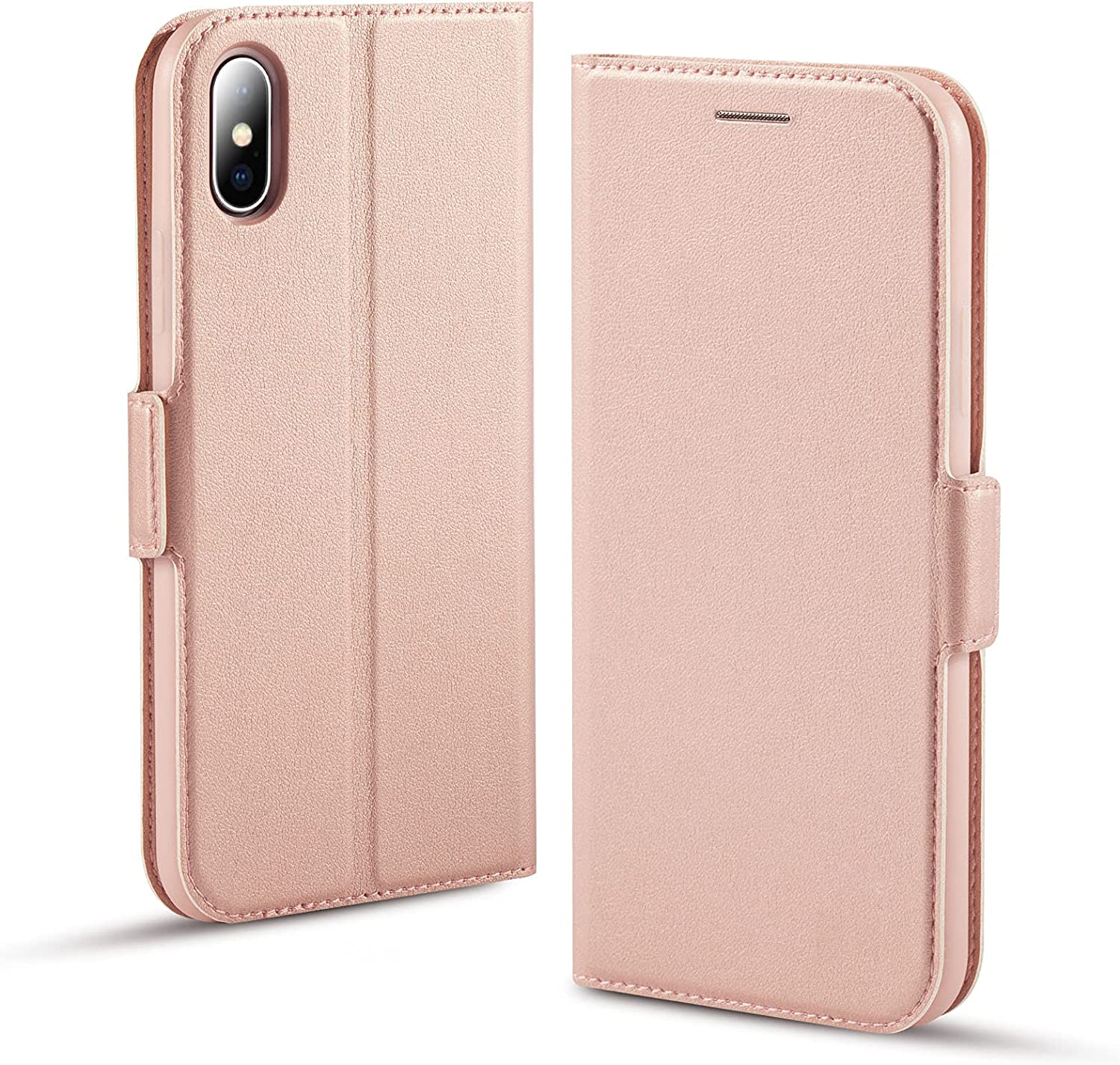 iPhone Xs Case, iPhone X Phone Case, iPhone Xs Wallet Case, iPhone X Flip Cover with Card Slot, Slim iPhone Xs Folio Case, Full Body Protection for ...
