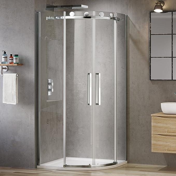iBathUK 900 x 900 diseño sin Marco EasyClean Quadrant Ducha Caja ...