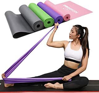 PROIRON Resistance Band Set Flat Stretch Bands Pilates Band Latex-Free for Yoga, Rehab, at-Home or The Gym Workouts, Strength Training