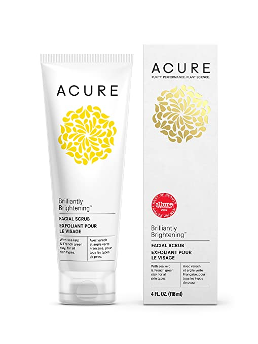Acure Organics Brilliantly Brightening Facial Scrub 4 oz