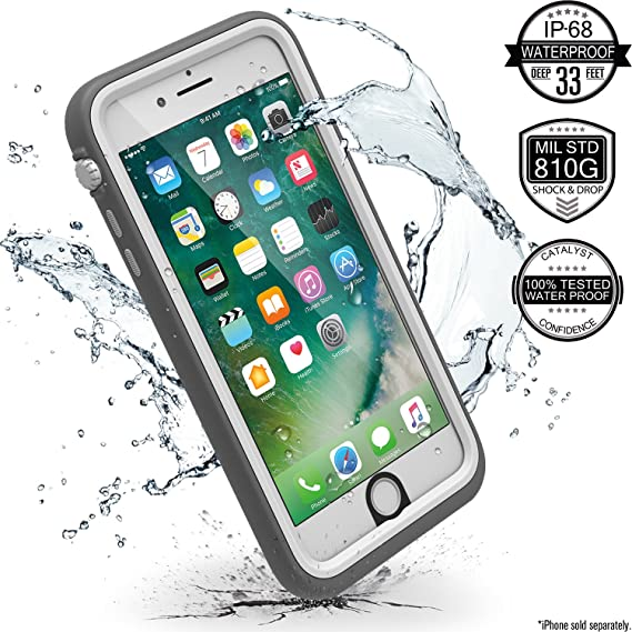 new concept a1304 24210 iPhone 7 Plus Waterproof Case, Shock Proof, Drop Proof by Catalyst for  Apple iPhone 7+ with High Touch Sensitivity ID (Alpine White)