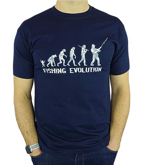 My Generation Gifts Fishing Evolution - Regalo Divertido de la Pesca del cumpleaños/Presente para Hombre de la Camiseta