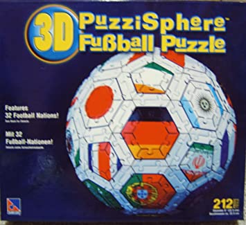 3d Fussball Puzzle 212 Teile Puzzle Ball Amazon De Spielzeug