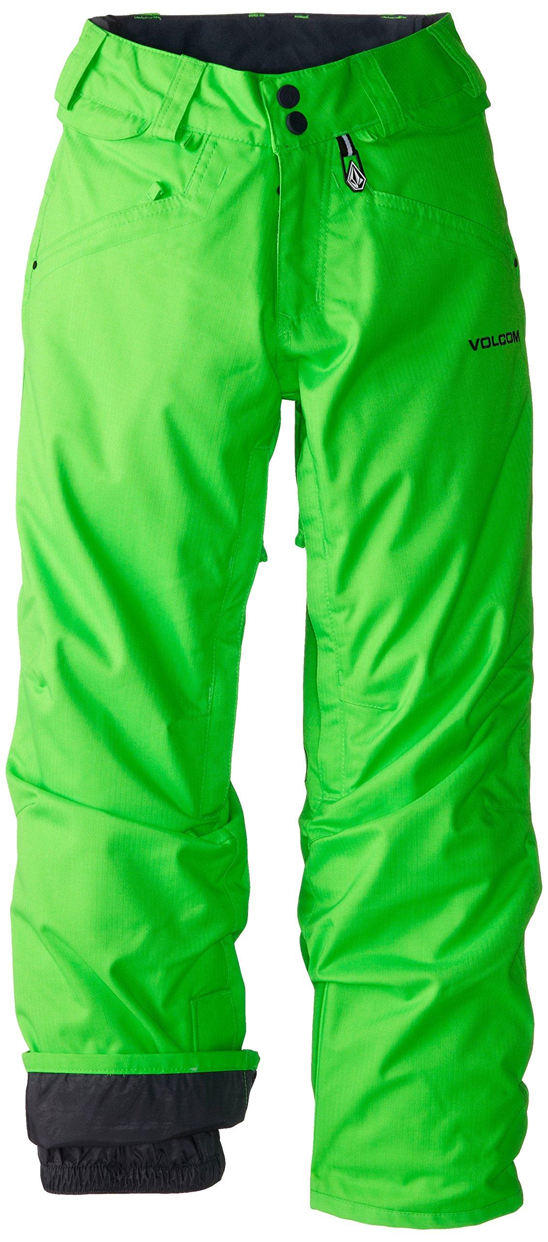 Volcom Big Boys' Battlefield Insulated Pant, Electric Green, Medium by Volcom (Image #1)