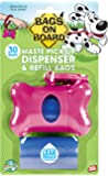 Bags on Board Bone Dispenser with 30 Refill Bags, Pink