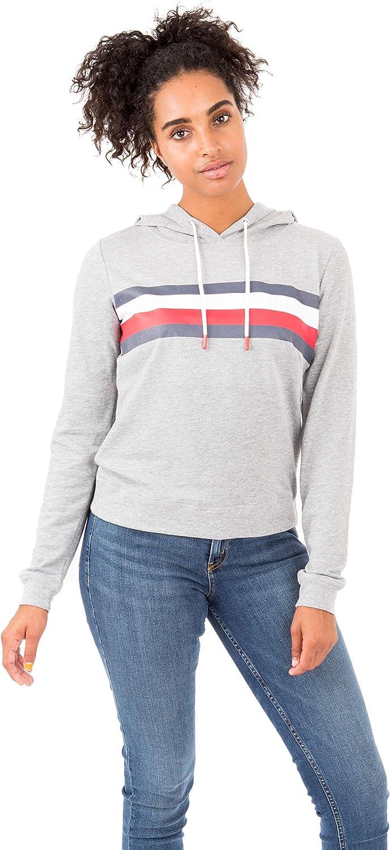 Top Tommy Hilfiger Damen Womens Lounge Sleep Sweatshirt Hoodie Pyjama-Oberteil