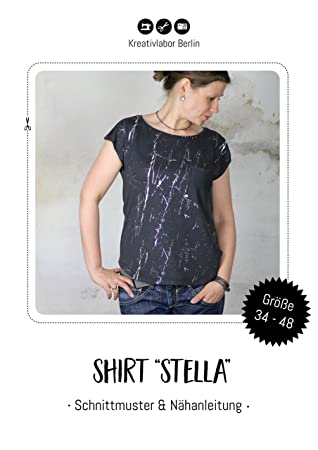 Kreativlabor Berlin Schnittmuster Shirt Stella Gr. 34-48 PDF-Ebook ...