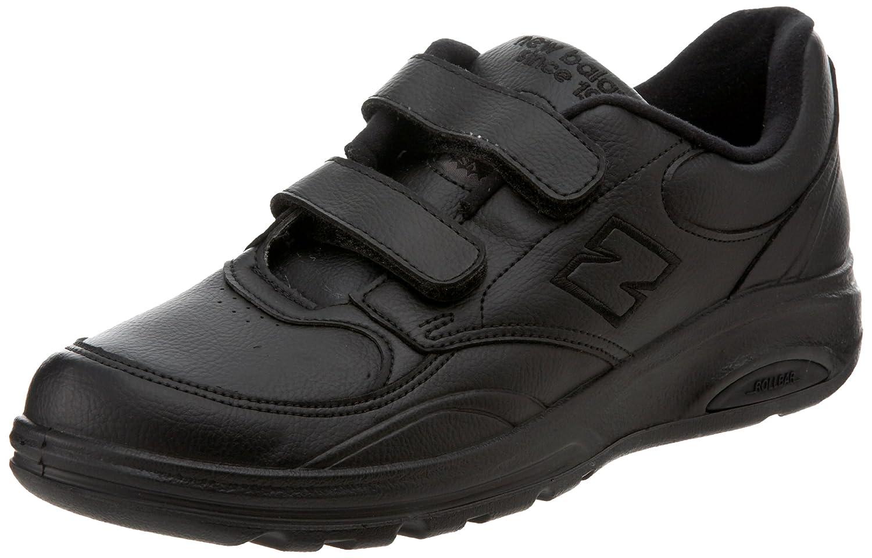 812 Velcro Zapato Confort Al Caminar Negro De Los Nuevos Hombres De Balance 3vVJckc