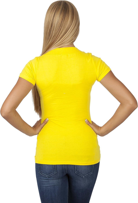 Camiseta de manga corta con cuello en V Hollywood Star Fashion