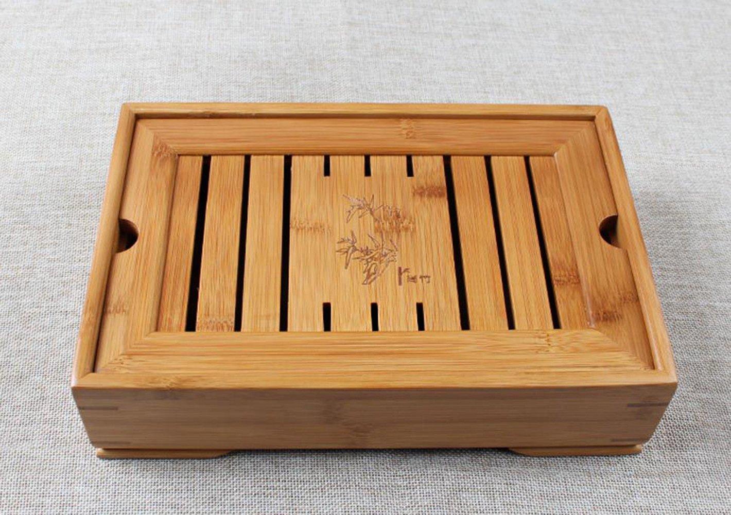 Hoobar Reservoir Type Bamboo Tea Tray - Chinese Kungfu Tea Table Serving Tray Box for Kungfu Tea Set by JKCOM (Image #7)
