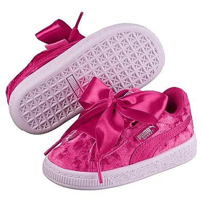 Basket Mädchen SneakerSchuhe Velour Puma Heart Baby 8nOmN0wPyv