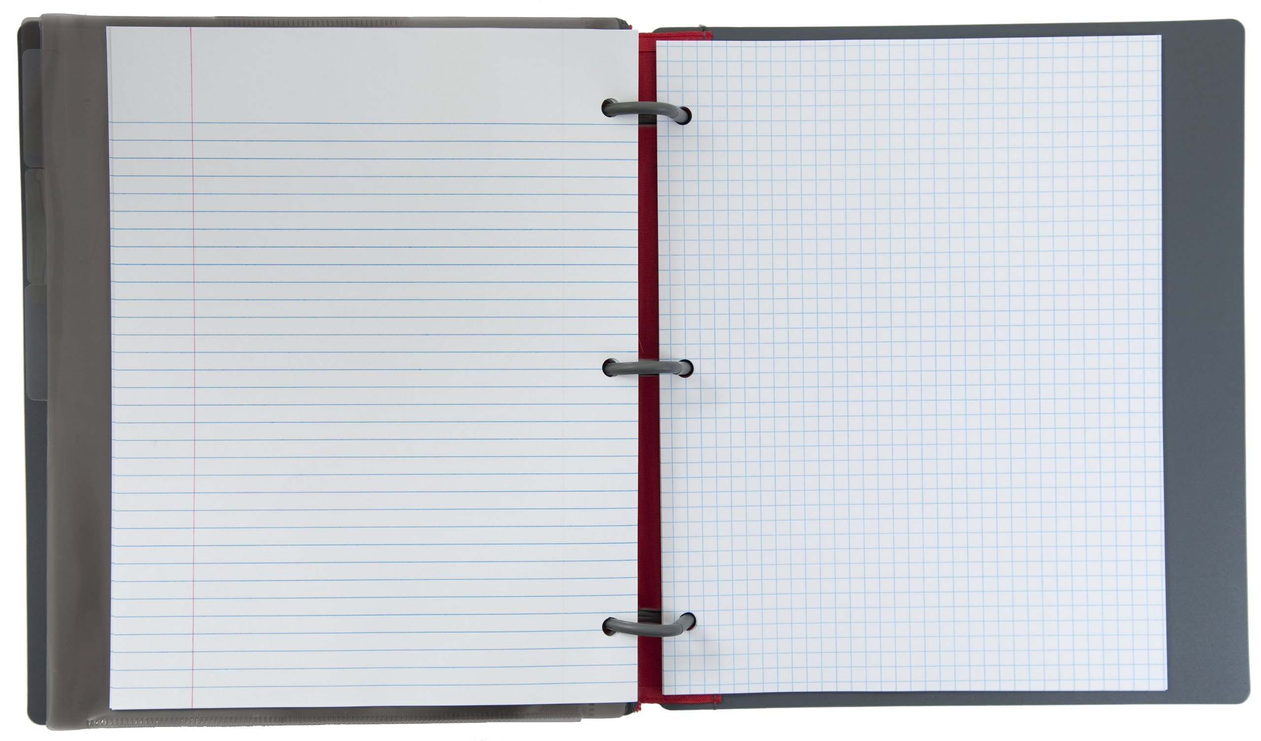 Five Star Flex Hybrid NoteBinder, 1 Inch Binder, Notebook and Binder All-in-One, Blue (72011) by Mead (Image #1)