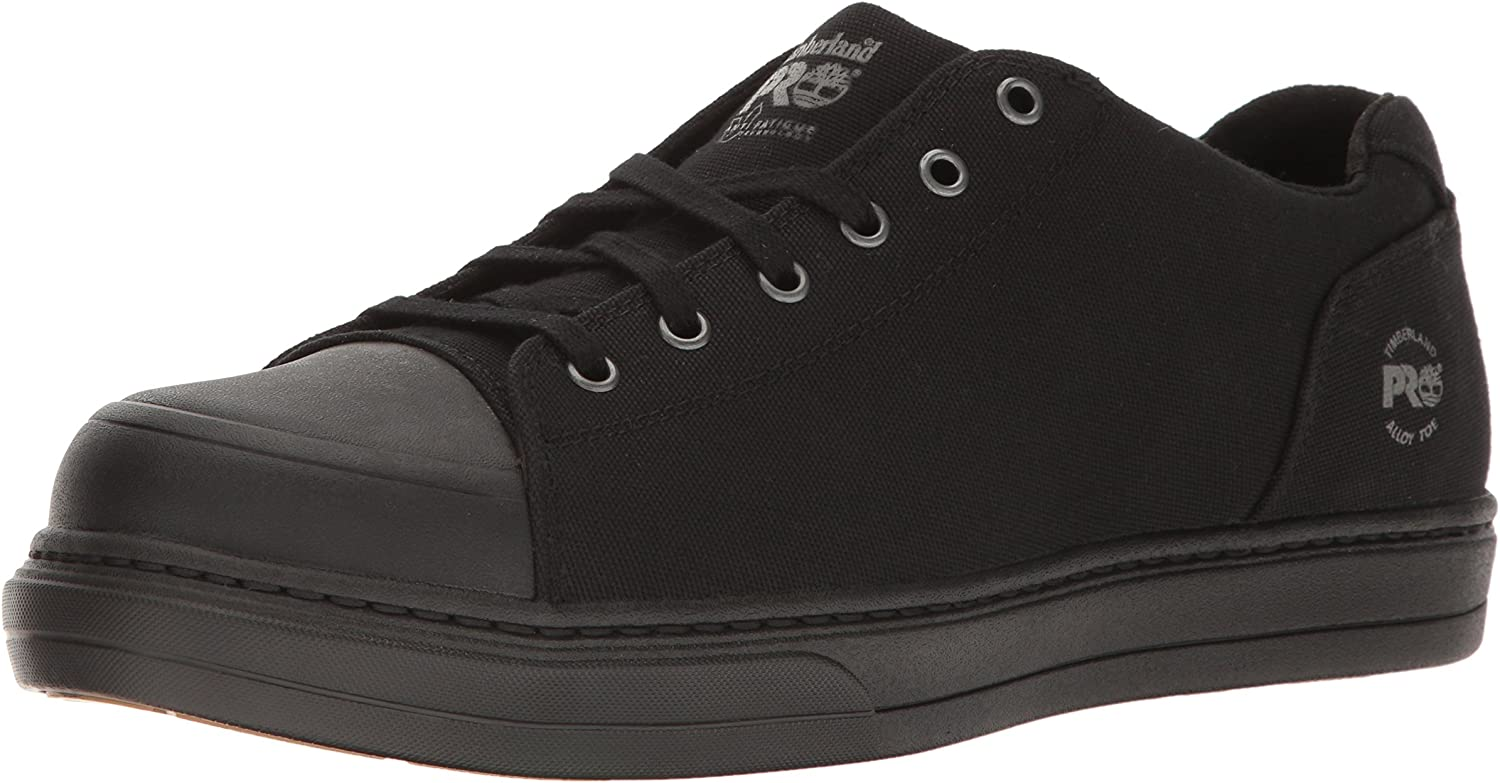 Timberland PRO Men's Disruptor Oxford Alloy Safety Toe EH Industrial & Construction Shoe, Black/Black Canvas, 12 M US
