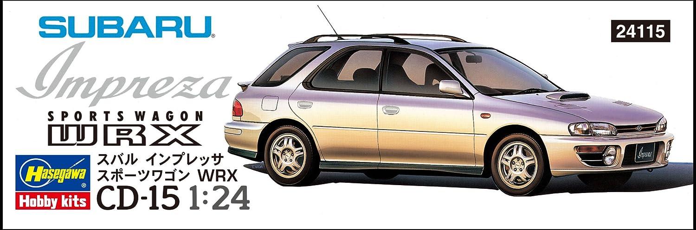 cba33cd3b3ce87 Hasegawa CD15 1/24 Subaru Impreza Sports WRX Plastikmodellbausatz Hobby  Mehrfarbig Modellbau Modelleisenbahnzubehör