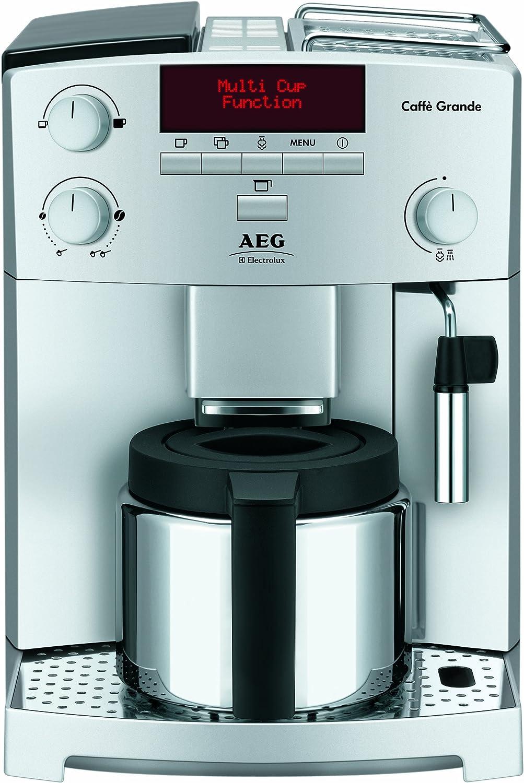 AEG CG 6400 - Cafetera espresso automática, color plateado: Amazon ...