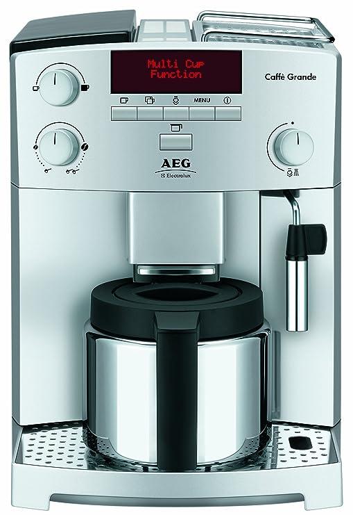 AEG CG 6400 - Cafetera espresso automática, color plateado ...