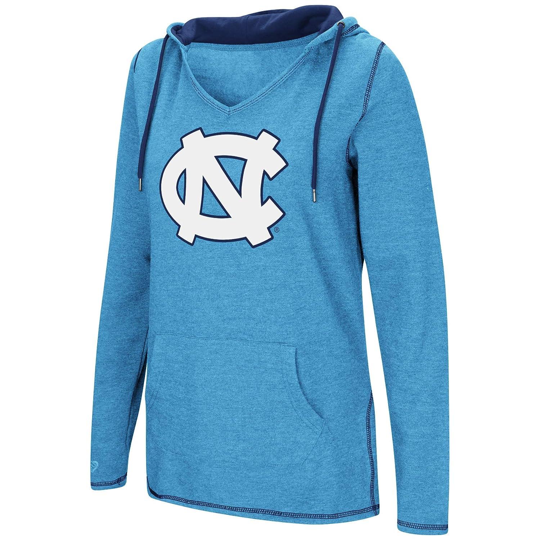 Dual Blend-Fleece V-Neck Hoodie Pullover Sweatshirt Colosseum Womens NCAA-Scream It!