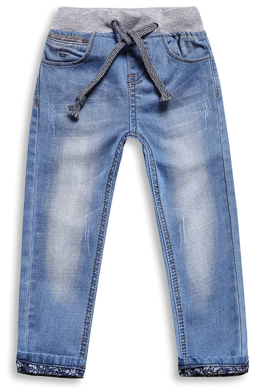 1b73b746632 LITTLE-GUEST Children s Place Straight Fit Jeans Toddler Boys Denim Pull On  Drawstring Waistband Pants B117