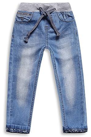 fb55a358d2 LITTLE-GUEST Little Boys' Jeans Kids Clothes Drawstring Waistband Denim  Pants B117 (2