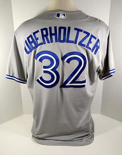new product 97282 0efd0 2017 Toronto Blue Jays Brett Oberholtzer #32 Game Used Grey ...