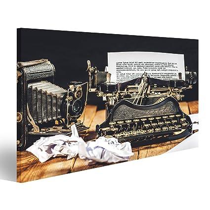 Cuadro Cuadros Texto prescrito en una máquina de escribir vintage y reloj cronómetro. Impresión sobre