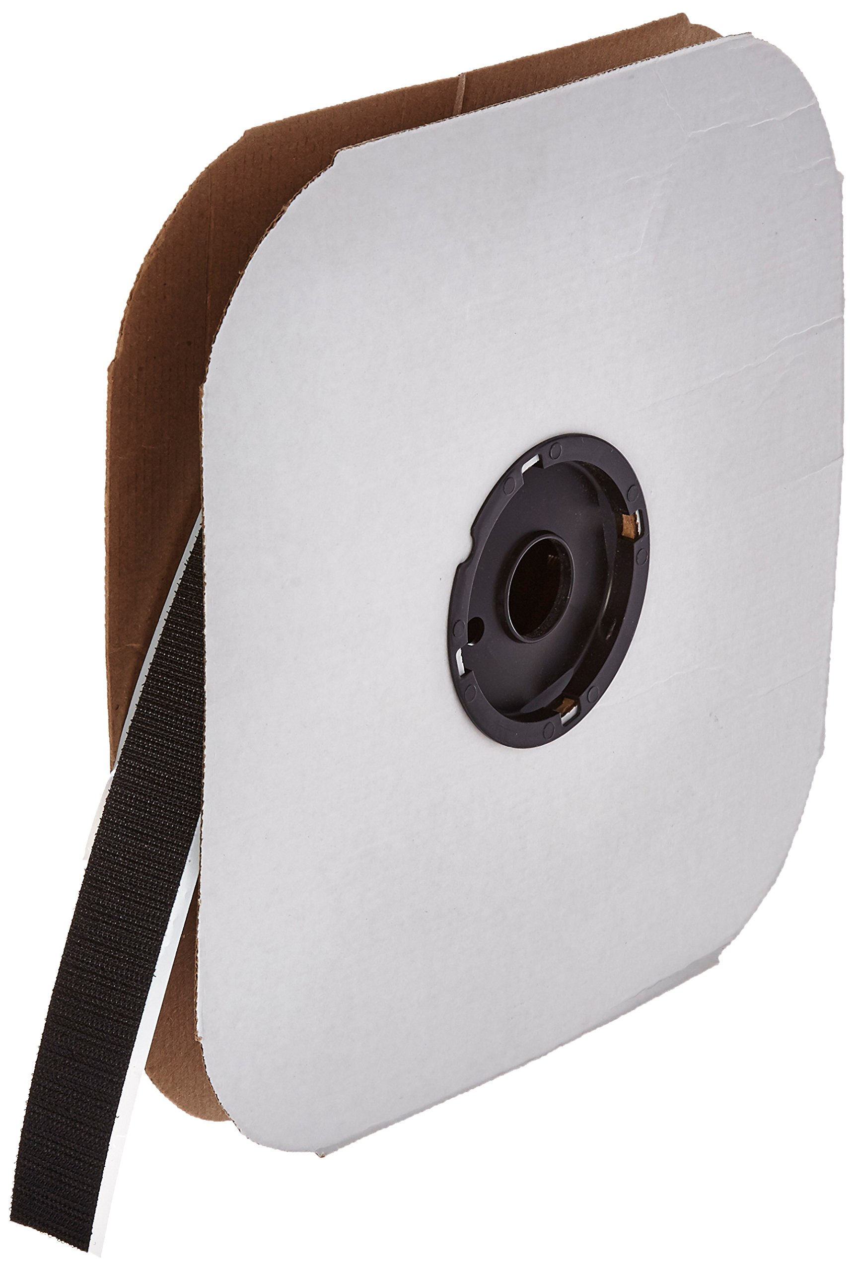 VELCRO 3804-SAT-PSA/H Black Woven Nylon Hook 88, 0132 Adhesive Backed, 1'' Wide, 50' Length
