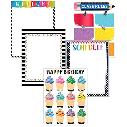 Creative Teaching Press Wall Chart Bold Bright Classroom Essentials 5 Pack 2255