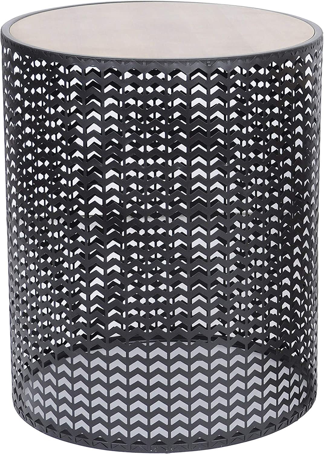 Decor Therapy FR11213 Outdoor Accent Table, 22 inch high, Black
