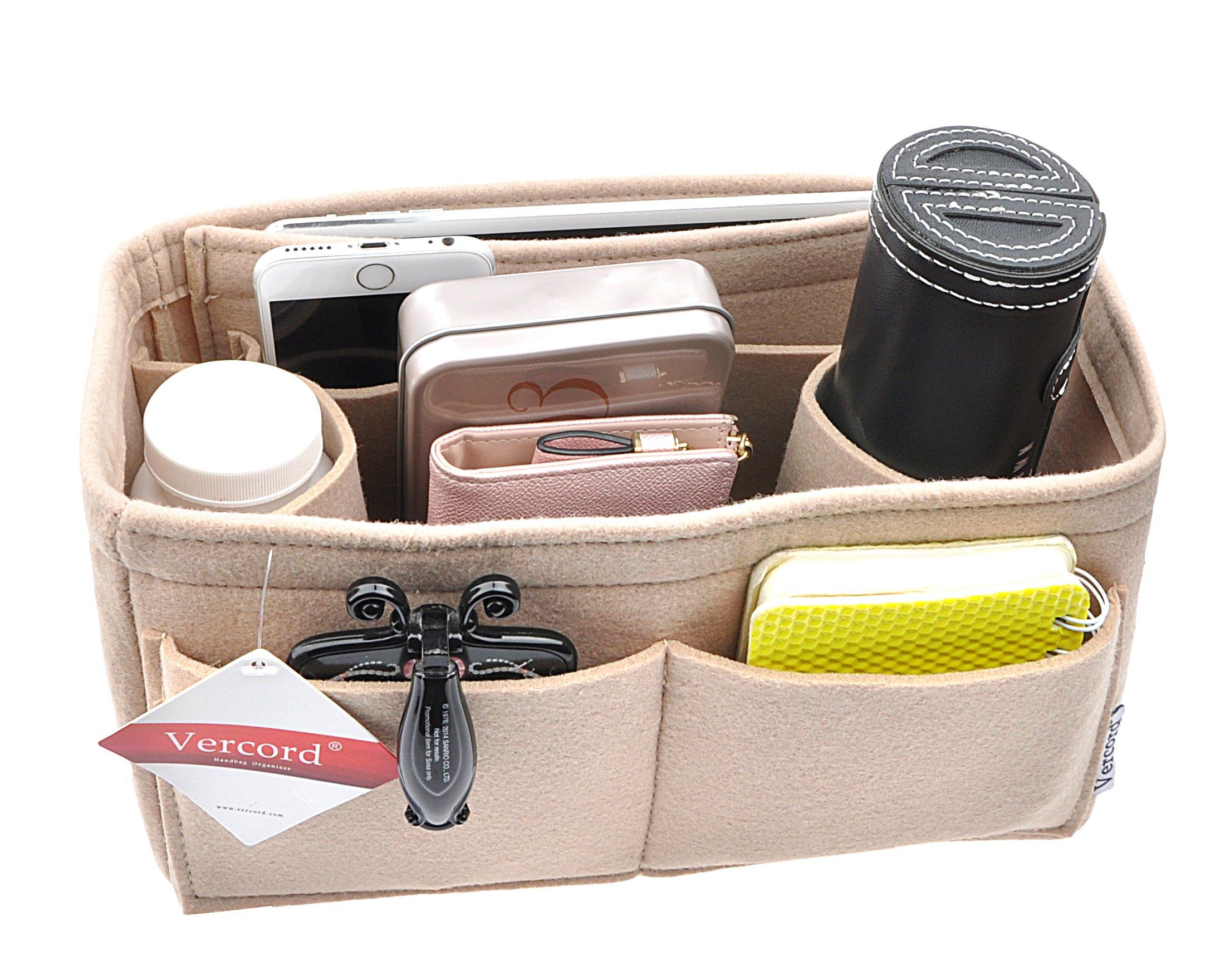 Handbag organizer,Felt Insert Purse Organizer Bag in Bag 2 Size beige L