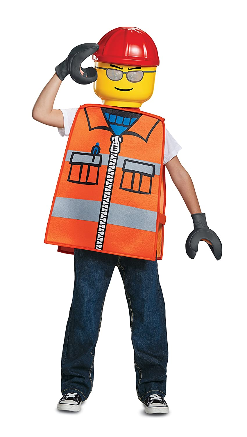 Disguise LEGO Construction Worker ベーシック 子供用コスチューム One Size Child  B079ZHLFP8