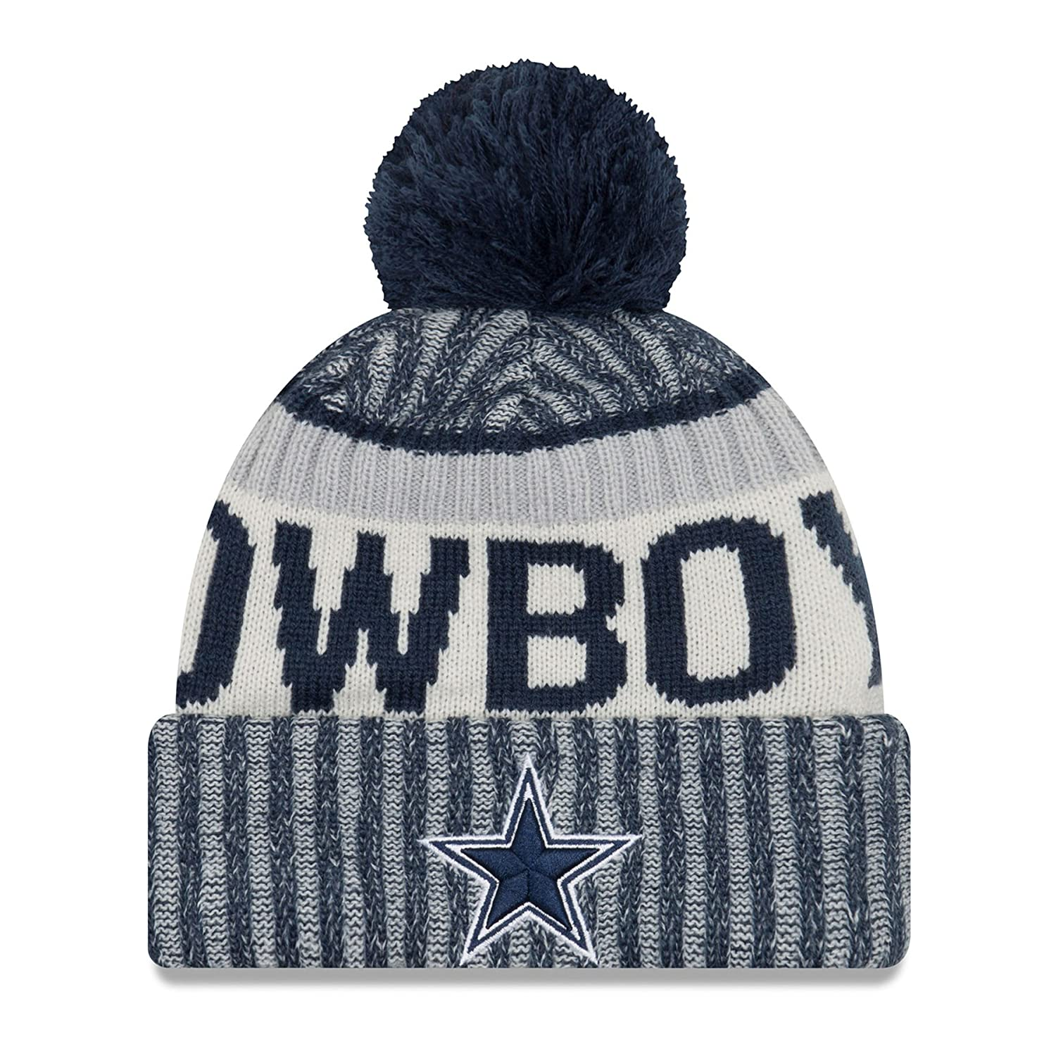 NewEra and NFL Sport Knit Knitted Bobble Cuff Beanie ~ Dallas Cowboys New Era 11460401