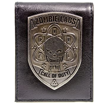 Cartera de Call of Duty Zombies Insignia de plata Negro: Amazon.es: Equipaje