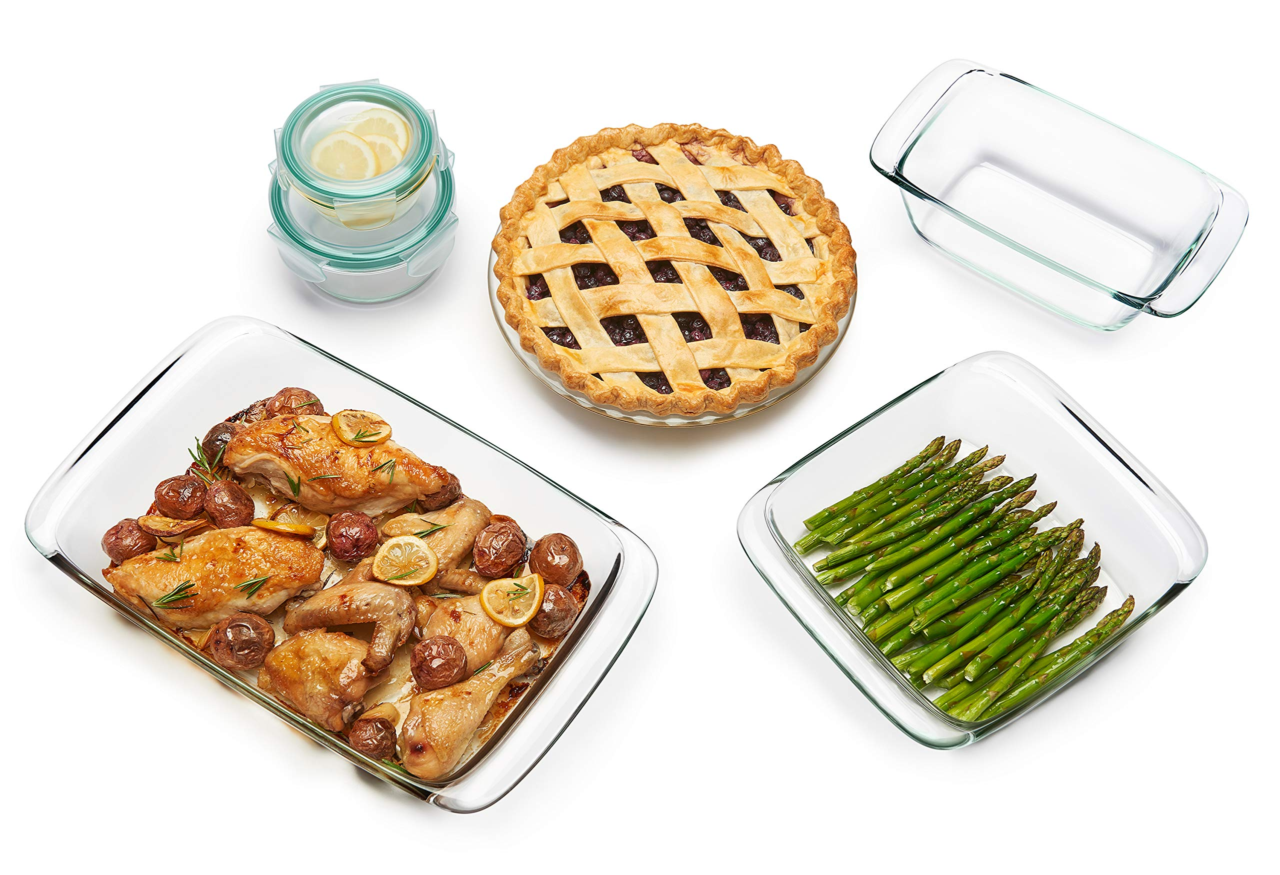 OXO Good Grips 8 Piece Freezer-to-Oven Safe Glass Bake, Serve and Store Set by OXO (Image #3)