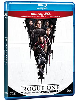amazon com rogue one a star wars story una historia de star wars blu ray 3d blu ray bonus disc english spanish audio and subtitles import felicity jones diego luna ben mendelsohn rogue one a star wars story