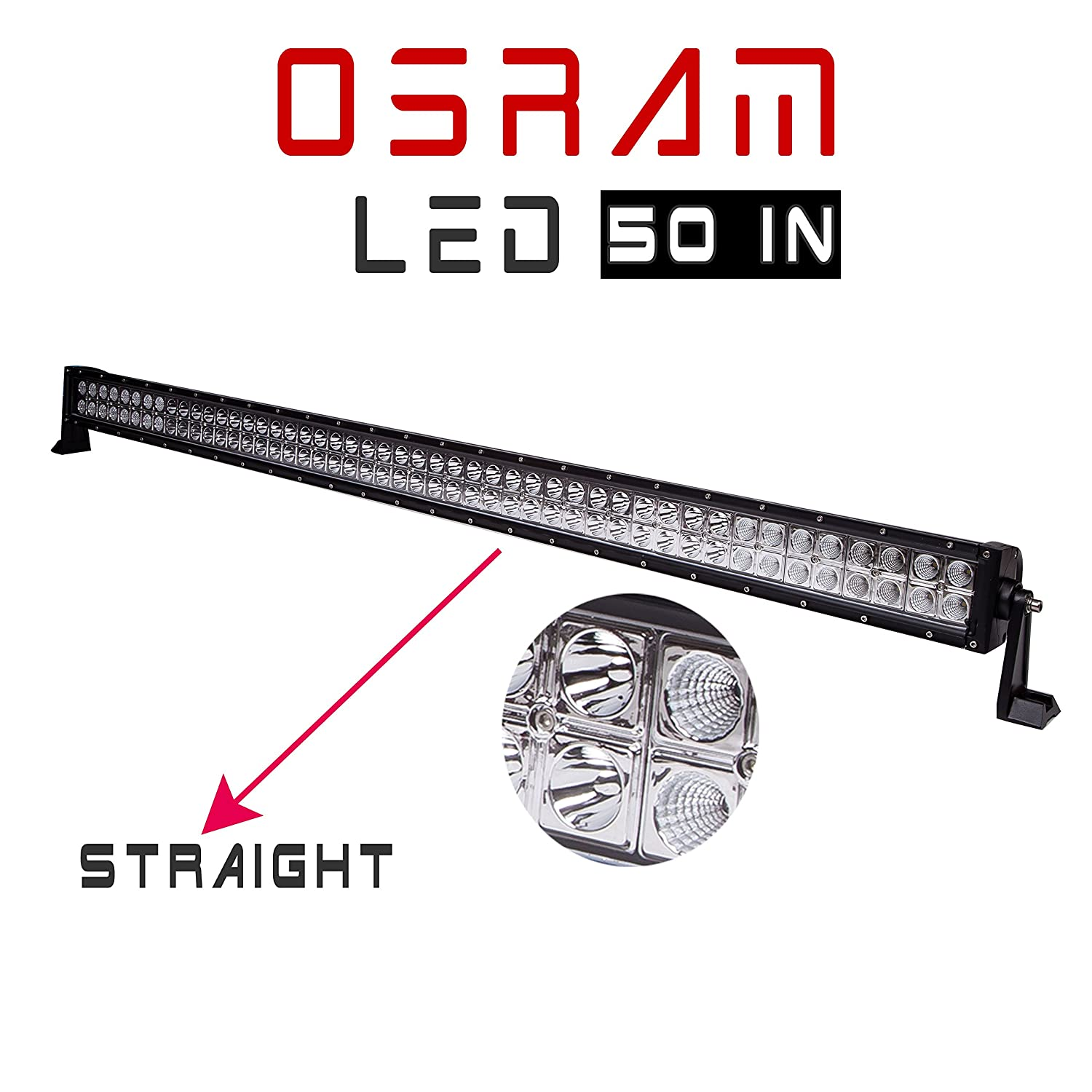 50 u0026quot  288w led combo work light bar uproof dual row for 2007
