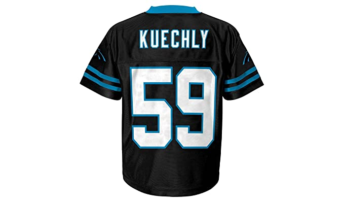 new style a677e 80dff Amazon.com: Luke Kuechly Carolina Panthers Black Home Player ...