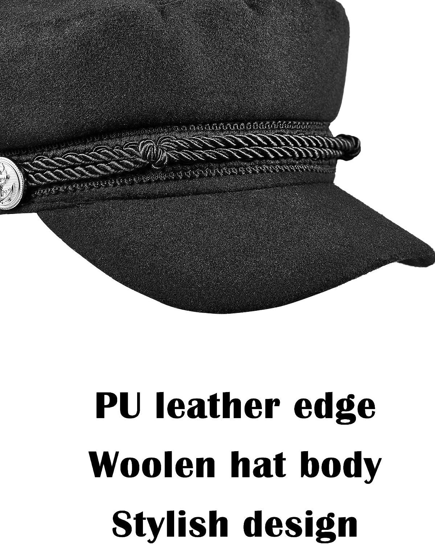 3 Pieces Womens Winter and Summer Stylish Newsboy Hat Beret Sunhat