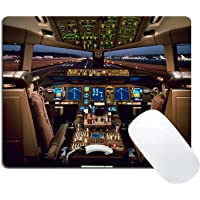 Wknoon Cool Boeing 777 Airplane Cockpit Mouse Pad
