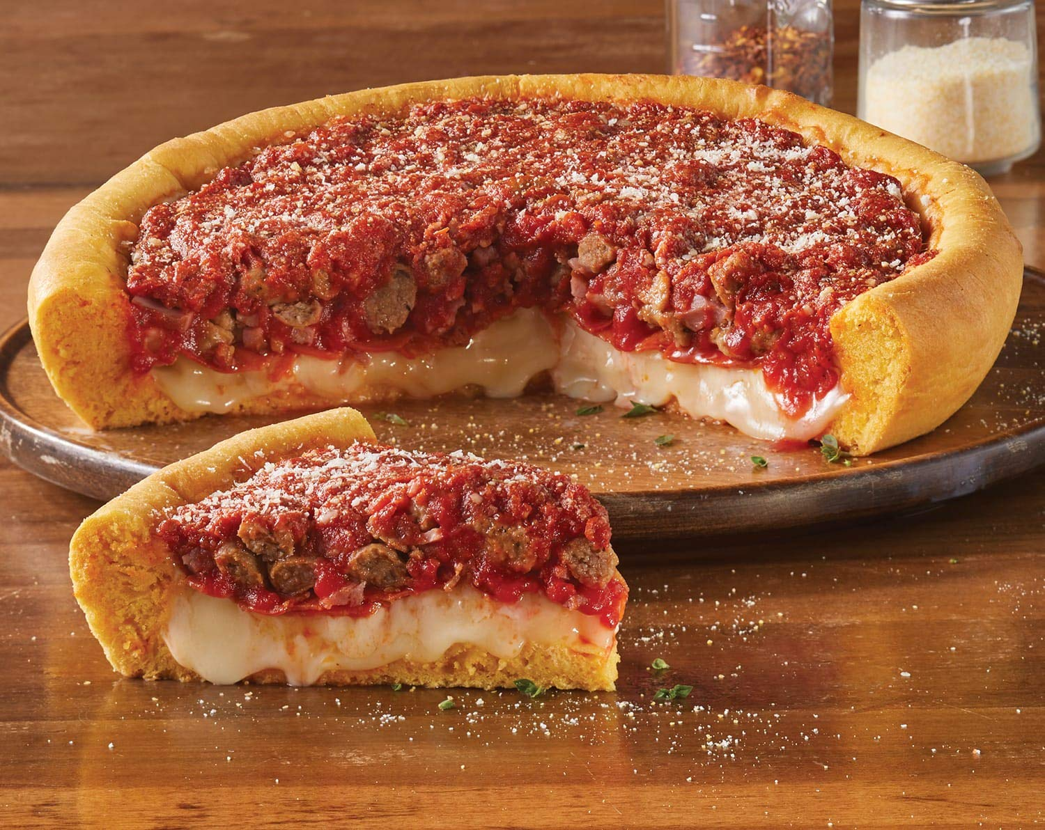 Buy 2 Meaty Legend Deep-Dish Pizzas from The Swiss Colony