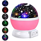Amazon Price History for:Adoric Kids Night Light, Star Moon Light Rotating Projector, 4 LED Bulbs 8 Modes USB Cable, Night Lighting Lamp for Nursery Baby Children Kids Bedroom Birthday Christmas (Pink)